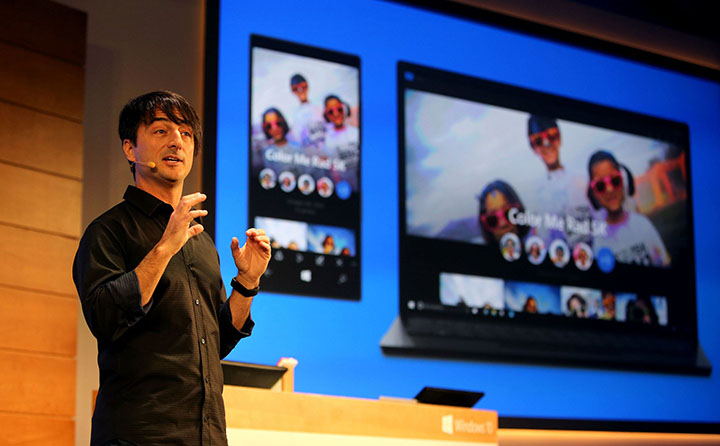 Microsoft's Joe Belfiore shows universal Windows 10 for phones and PCs