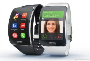 The Samsung Gear S has its own sim card for 3G data and voice...yes, make and receive calls, even forwarded from your synched Samsung smartphone