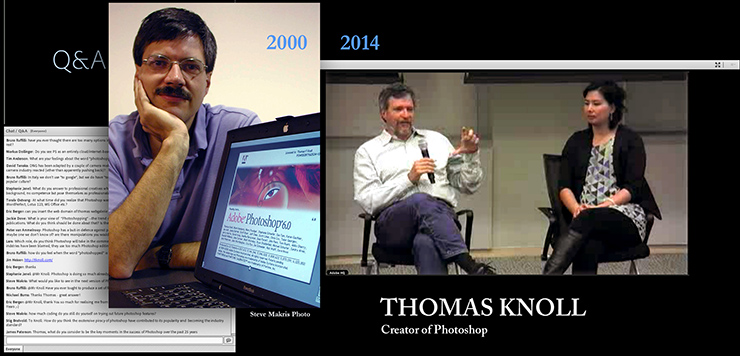 Photoshop creator Thomas Knoll answers media questions online today on Photoshop's 25th. My meeting him in 2000 running PS 6!