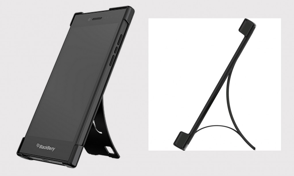 BlackBerry Flex shell converts to a vertical or horizontal stand