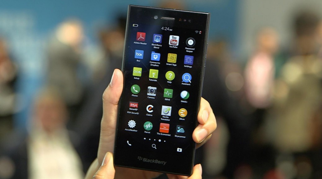 BlackBerry Leap with back and side non-slip surfaces  is easy to hold