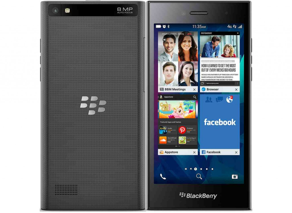 The BlackBerry Leap sans keyboard is clasically simpe borrowing features from pricier siblings