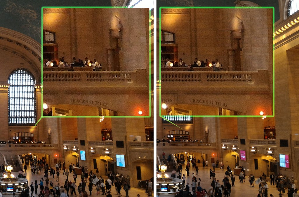 The ZenFone 2 High Definition mode, right, produces noticeably better quality pictures but not by a magnitude of four, compared to the standard mode on the left