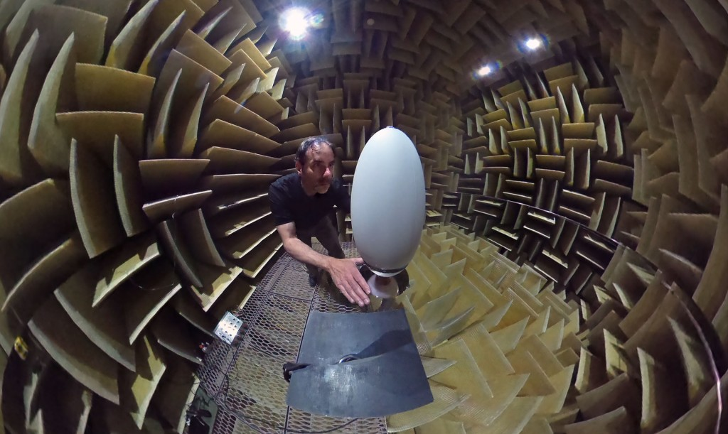 Isolated in total silence, Bill Decanio snaps his own Theta spherical photo while adjusting the