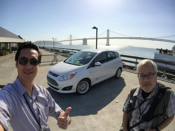 With SlashGear co-driver Vincent Nguyen testing Ford's new G-Max Energi in San Francisco