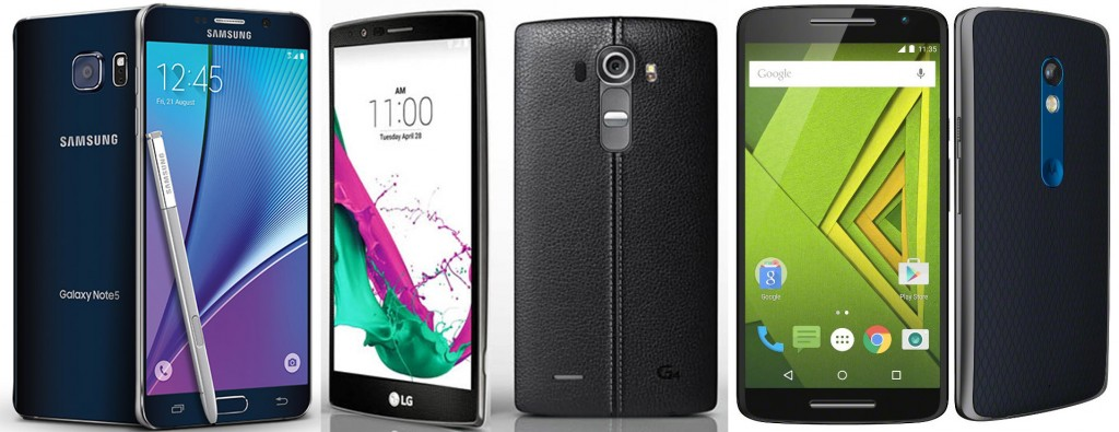 16MP Samsung Galaxy Note 5,  16MP LG G4 and 21MP Moto X Play