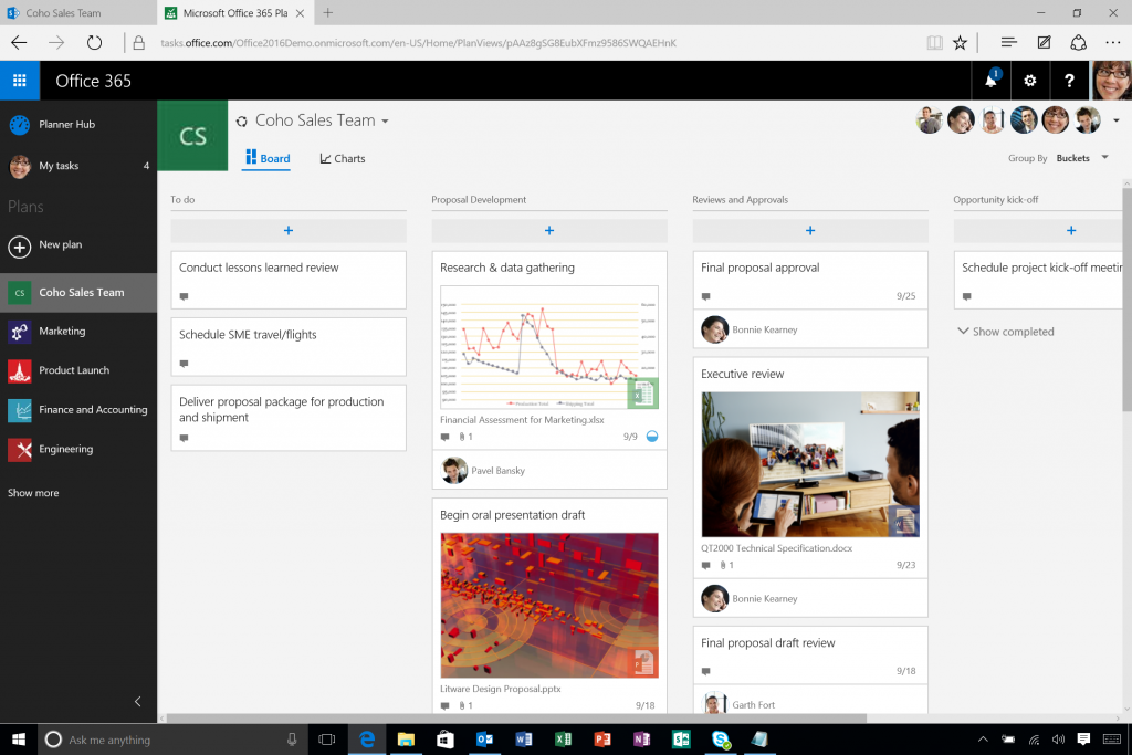 Office 365 Planner Boards View
