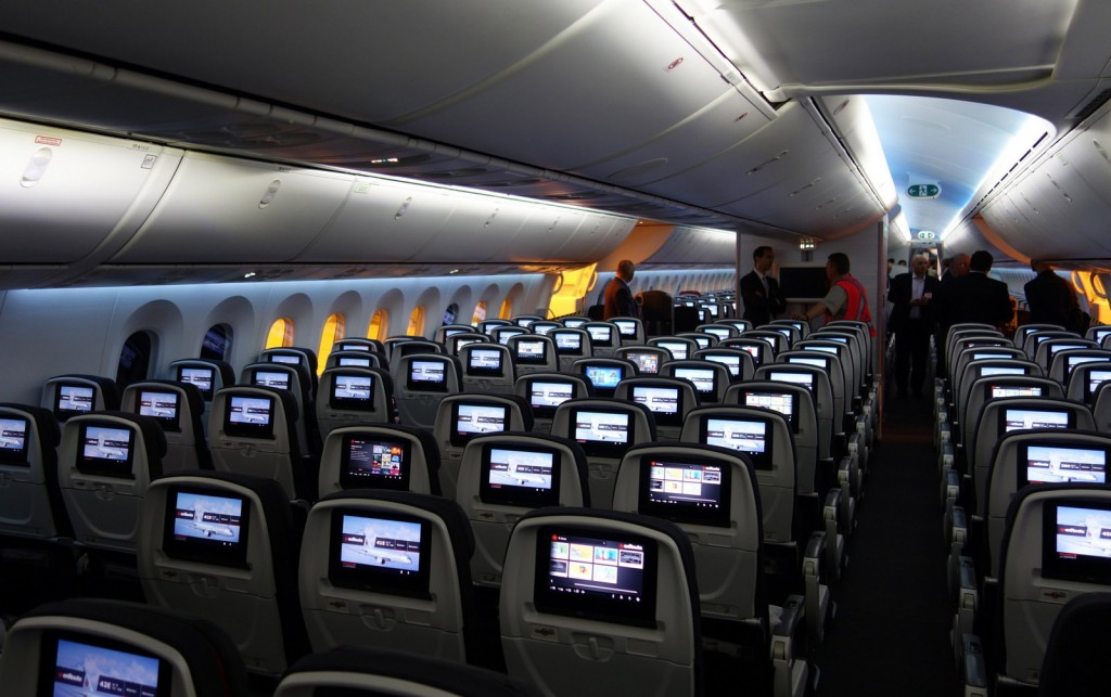 AIr Canada Boeing Dreamliner Coach Seating