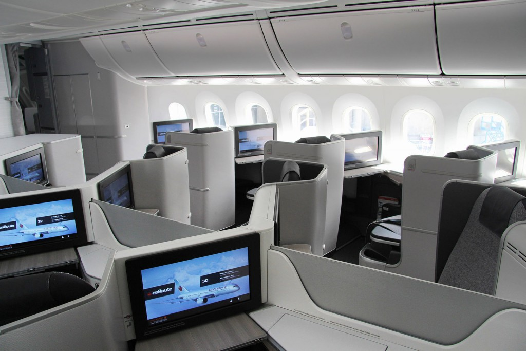 Air Canada Boeing Dreamliner Business Seats