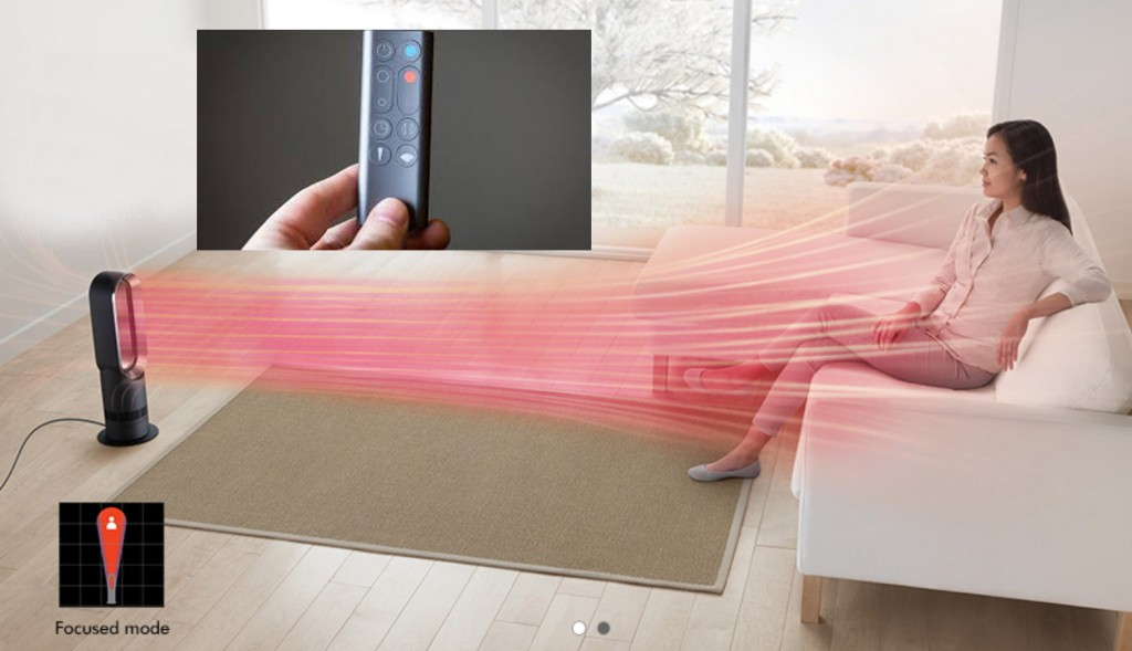Dyson Hot + Cool Jet Focus with remote control and timer reaches far and wide