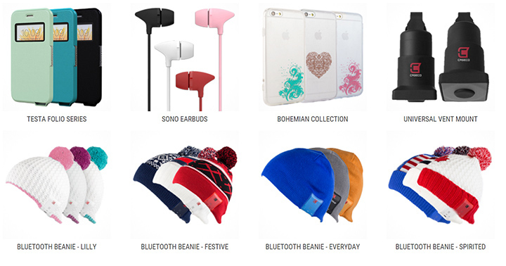Caseco well designed mobile accessories and dozens of Bluetooth built in headphone Beanies