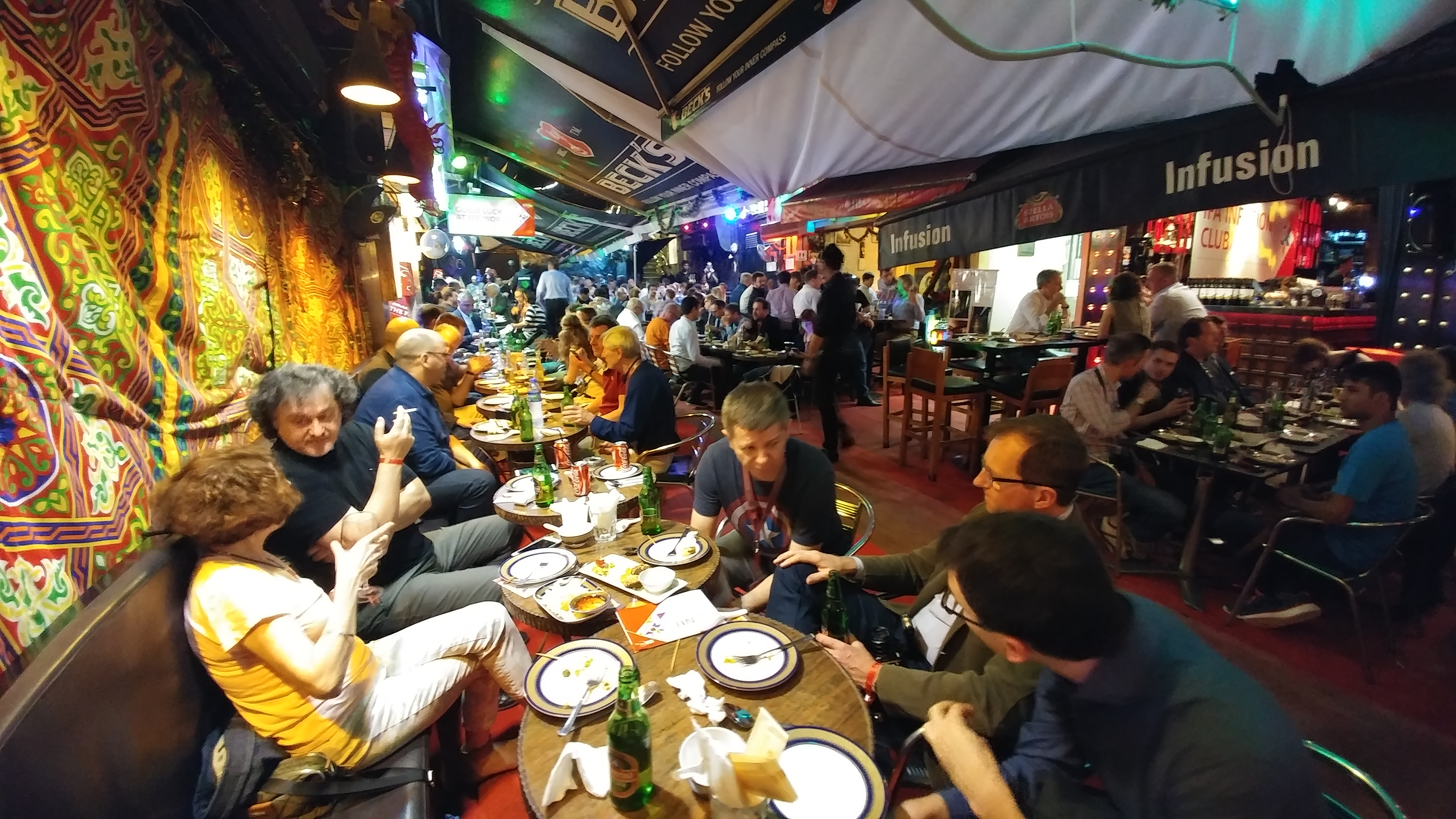 Hong Kong Bar district was a wild bazaar mixed with cultures of the world