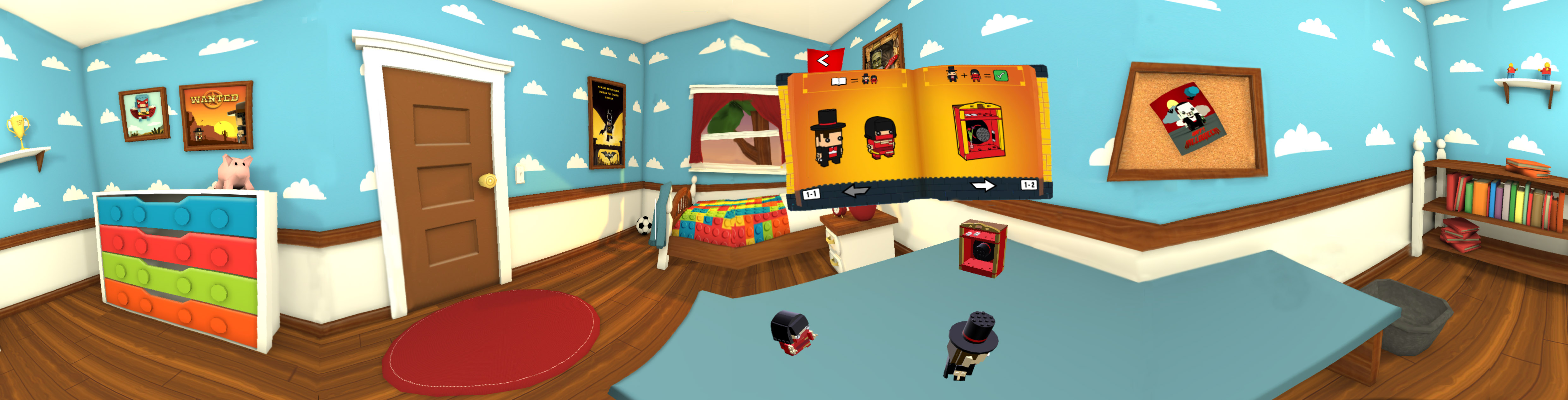 Lego Brick 'H'EADZ 360 degree room